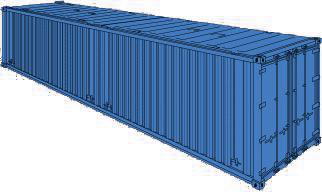 40 FT High Cube Hard Top Container